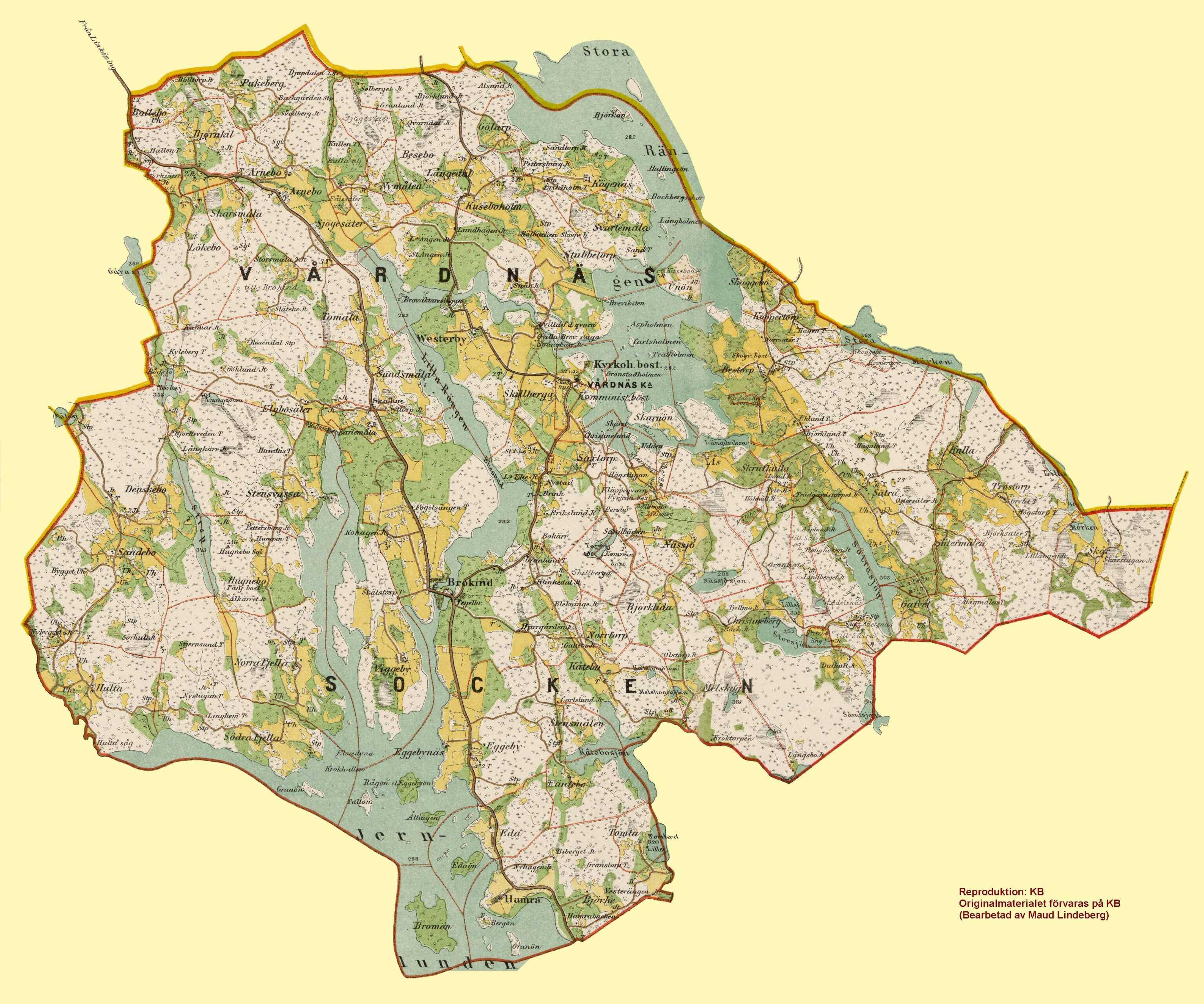 östergötland karta Kartor östergötland karta